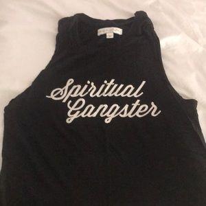 Spiritual gangster logo tank size small